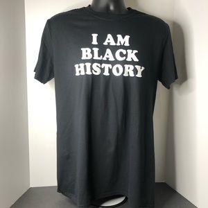 I Am Black History Black/White Tshirt Men's Medium